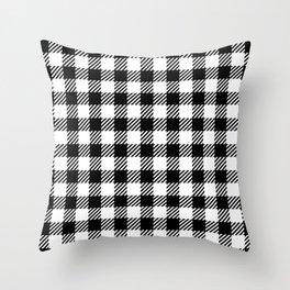 Black & White Vichy Throw Pillow