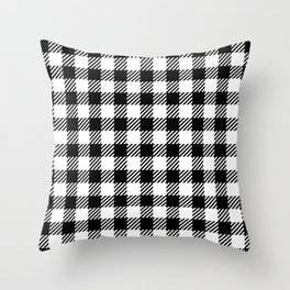 Black & White Vichy Throw Pillow