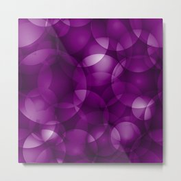 Dark intersecting purple translucent circles in bright colors with a blueberry glow. Metal Print