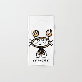 crabby cancer cutie pie Hand & Bath Towel
