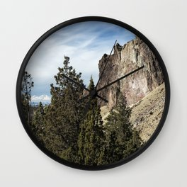 Rocky and Snowy Peaks Wall Clock
