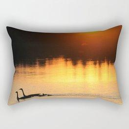 Canada Geese Family Sunset Rectangular Pillow