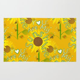 Seamless Sunflowers Rug
