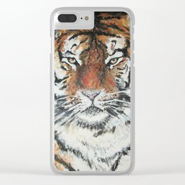 Portrait of a Tiger Clear iPhone Case