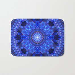 Azure Shield Mandala Bath Mat