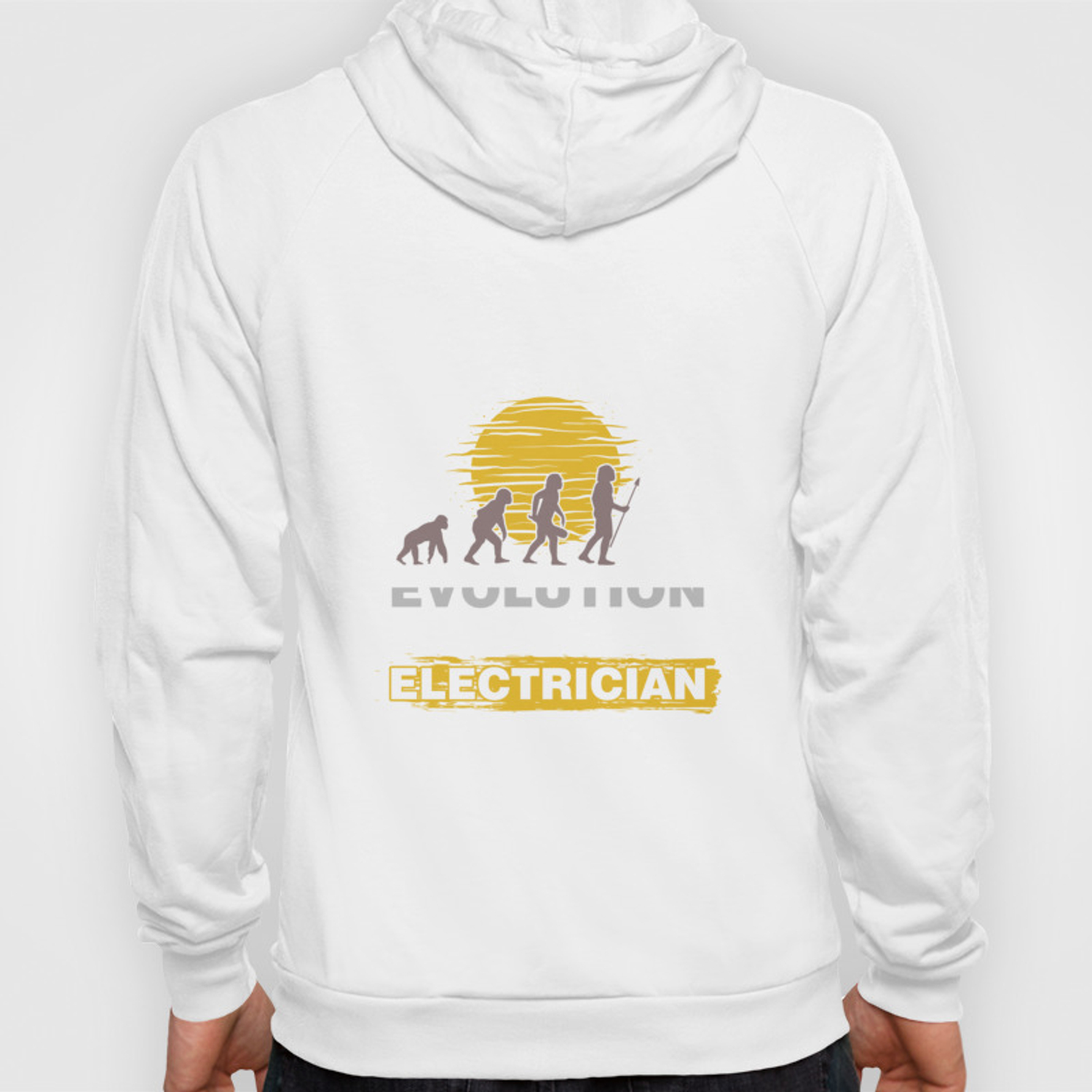 Lineman Sparky Tradesman Evolution Of Man Electrician Unisex Hoodie Gift