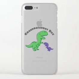 Fun Grandpa Gift Dino Lover Grandpasaurus Rex Gift Clear iPhone Case