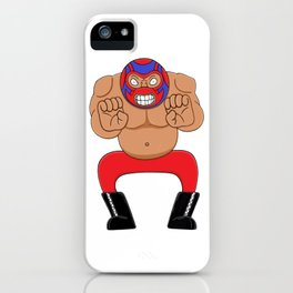 Angry wrestling iPhone Case