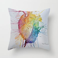 Graffiti Heart Throw Pillow