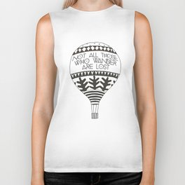 """Not all those who wander are lost"" Biker Tank"