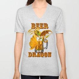 Beer Dragon Unisex V-Neck