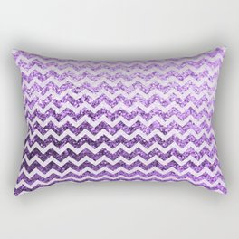 Glitter Sparkly Bling Chevron Pattern (purple) Rectangular Pillow