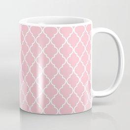 Moroccan Trellis, Latticework - Pink White Coffee Mug