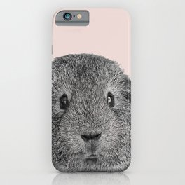 Funny guinea pig in pink iPhone Case