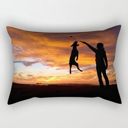 Sunset Workout Rectangular Pillow