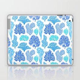 Coral Mania Pattern (blue) Laptop & iPad Skin