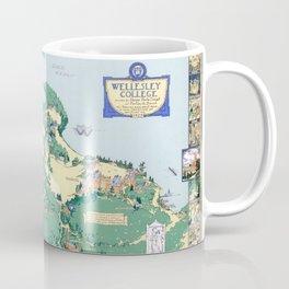 WELLESLEY College map MASSACHUSETTS dorm decor graduate Coffee Mug