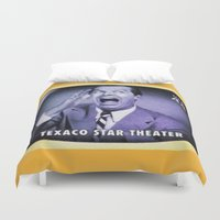theater Duvet Covers featuring Texaco Star Theater by lanjee