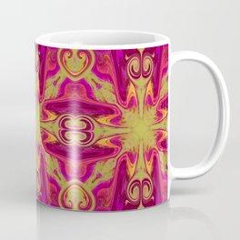 Groovy, Retro Pink and Green Swirls Design Coffee Mug