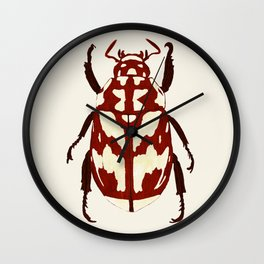 Red beetle insect Wall Clock