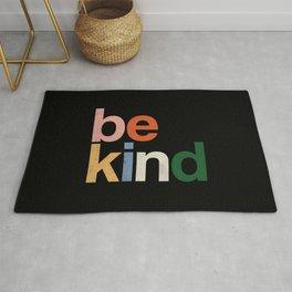 be kind colors rainbow Rug