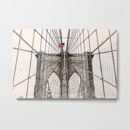 Brooklyn Brigde New York City ArtWork Paint Metal Print
