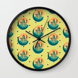 Cactus in the Sun Wall Clock