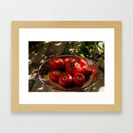 Red vegetables Framed Art Print