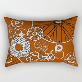 Beauty in Bicycle Parts Rectangular Pillow