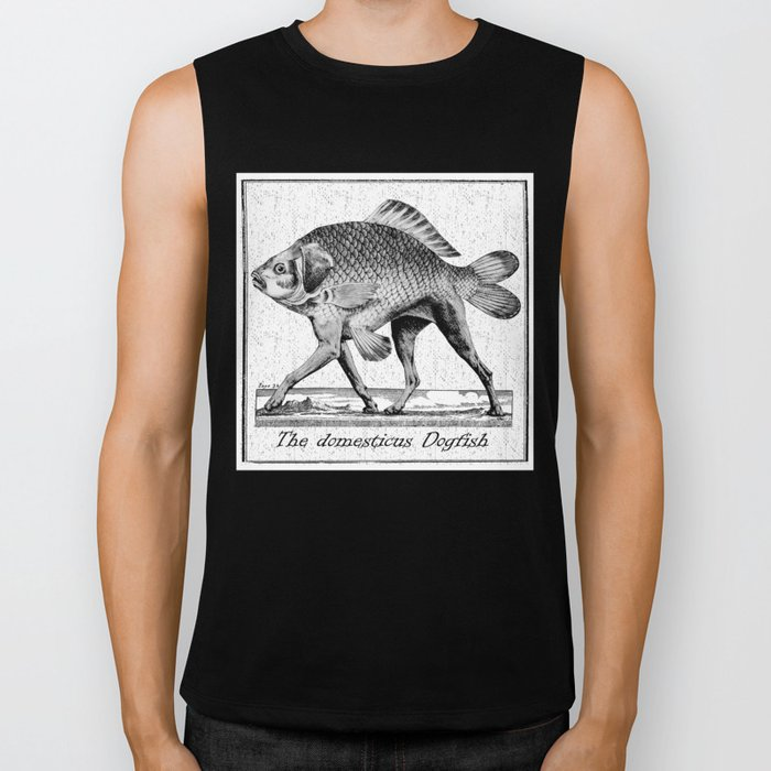 If fishes had legs Biker Tank
