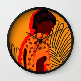 SHADES OF YELLOW (stand out, do not merge) Wall Clock