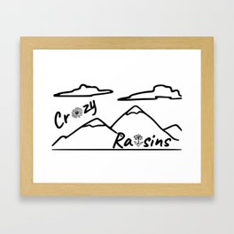 Crazy Raisins Framed Art Print