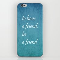 friendship iPhone & iPod Skins featuring Friendship by Lyle Hatch