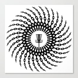 Disc Golf Basket Chains Canvas Print