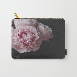 Peonies on Black No. 2 Carry-All Pouch