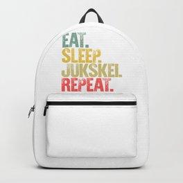 Eat Sleep Repeat Shirt Eat Sleep Jukskei Repeat Funny Gift Backpack