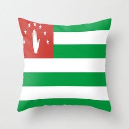 Flag Of Abkhazia Throw Pillow