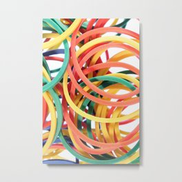 Many Colored Scattered Stationery Rubbers Metal Print
