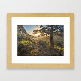 Sunrise in Gougane Barra Framed Art Print