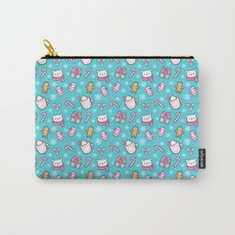 Cute Christmas // Teal Carry-All Pouch