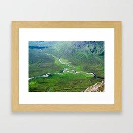 Highland Mountain Rivers Framed Art Print