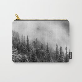 Fog in the Mountains | Black and White Photography | Landscape | black-and-white | bw Carry-All Pouch