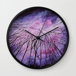 Galaxy, watercolor Wall Clock