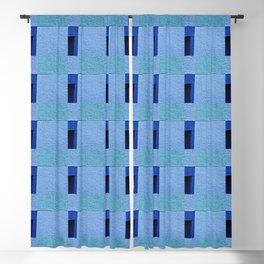 Textured Blues Blackout Curtain