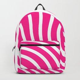 hot pink waved pattern Backpack