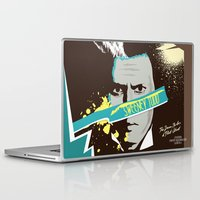 tim shumate Laptop & iPad Skins featuring Tim Burton's Sweeney Todd by Luis Urrutia