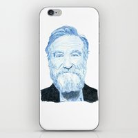 """robin williams iPhone & iPod Skins featuring Robin Williams """"Freedom"""" by Triple_S_Art"""