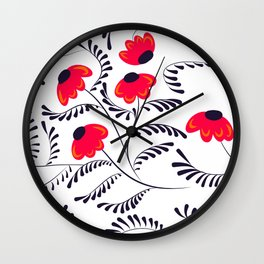 Beauty simple seamless floral pattern swirl Wall Clock