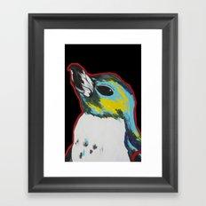 Penguin /black Framed Art Print