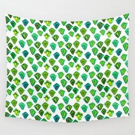 Green gemstone pattern. Wall Tapestry